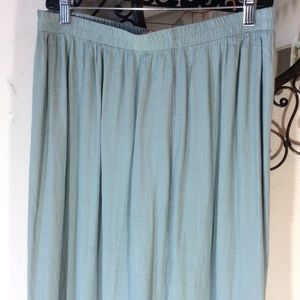 Vintage Skirts - Artsy vintage sea foam patchwork maxi skirt